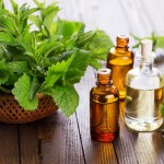 peppermint leaves and essential oils